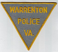 Warrenton Police Patch (brown with gold edge) (VA)