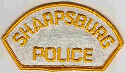 Sharpsburg Police Patch (white/yellow) (PA)