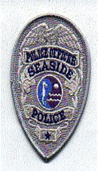 Seaside Police Officer Patch (gray,purple) (badge patch) (CA)