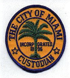 Miami Police Custodian Patch (FL)