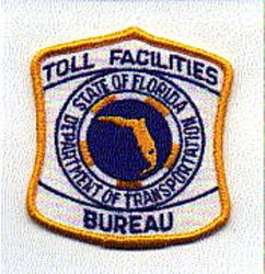 Dept. of Transp. Toll Facilities Bureau Patch (FL)