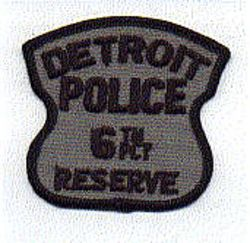 Detroit Police 6th PCT Reserve Patch (MI)