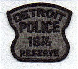 Detroit Police 16th PCT Reserve Patch (MI)