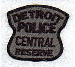 Detroit Police Central Reserve Patch (MI)