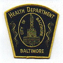 Baltimore Health Department Patch (MD)