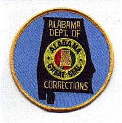 Dept. of Corrections Patch (large) (AL)
