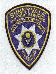 Sunnyvale Fire Police Support Services Patch (CA)