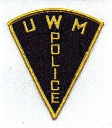 Misc: U W M Police Patch