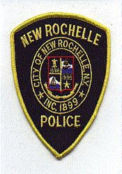 New Rochelle Police Patch (yellow edge) (NY)
