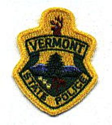 State: VT. State Police Patch (cap size)