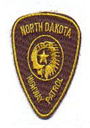 State: ND, Highway Patrol Patch (cap size)