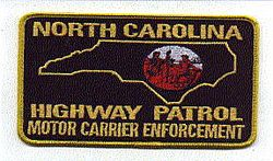 Highway Patrol Motor Carrier Enforcement Patch (large) (NC)