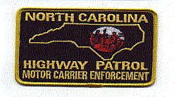 Highway Patrol Motor Carrier Enforcement Patch (small) (NC)