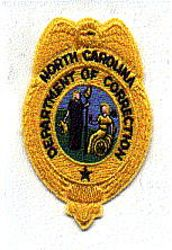 Dept. of Correction Patch (badge shape) (NC)