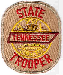 State: TN. Trooper Patch (cap size)