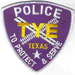 Tye Police Patch (blue/white) (TX)
