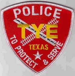 Tye Police Patch (red/white) (TX)