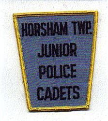 Horsham Twp. Junior Cadets Police Patch (yellow edge) (PA)