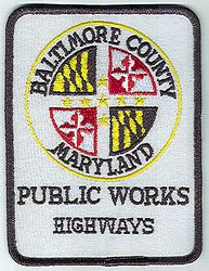 Baltimore Co. Public Works Highways Patch (MD)