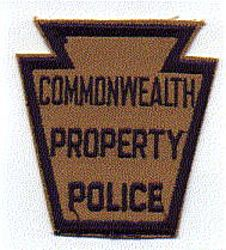 Commonwealth Property Police Patch (brown/blue) (PA)