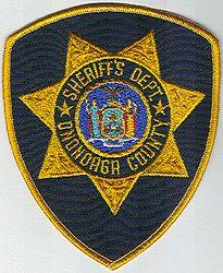 Sheriff: NY, Onondaga Co. Sheriffs Dept.(black/gold,7 pt. star)