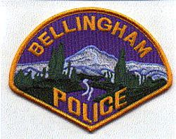Bellingham Police Patch (gold edge/letters) (WA)