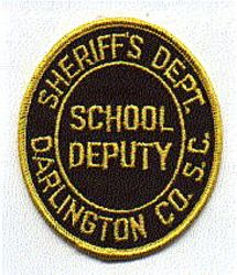 Sheriff: SC. Darlington Co. Sheriffs Dept. School Deputy Patch