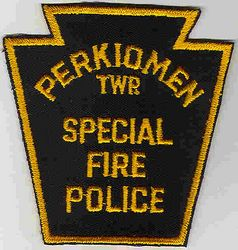 Perkiomen Twp. Special Fire Police Patch (twill) (PA)