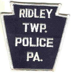 Ridley Twp. Police Patch (white letters/edge) (PA)