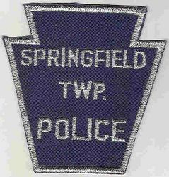 Springfield Twp. Police Patch (silver edge) (PA)