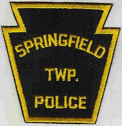 Springfield Twp. Police Patch (yellow edge) (PA)