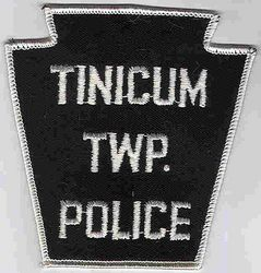 Tinicum Twp. Police Patch (white edge) (PA)