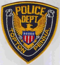 Topton Police Patch (gold edge) (PA)