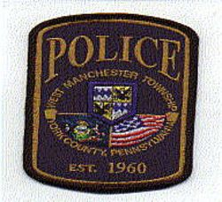 West Manchester Twp. Police Patch (blue/gold, new) (PA)