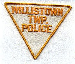Willistown Twp. Police Patch (white/yellow) (PA)