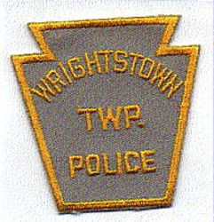Wrightstown Twp. Police Patch (gray/yellow) (PA)