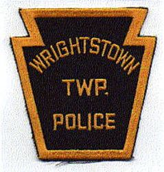 Wrightstown Twp. Police Patch (black/gold, twill) (PA)