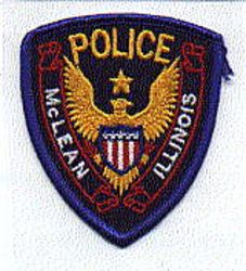 McLean Police Patch (cap patch) (IL)
