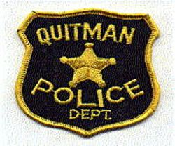 Quitman Police Patch (yellow edge/star) (GA)