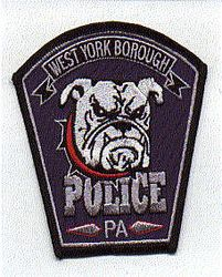 West York Borough Police Patch (black edge, new) (PA)