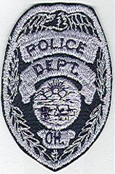 Ohio Police Patch (gray/black, cap size) (OH)