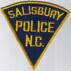 Salisbury Police Patch (blue/gold border) (NC)