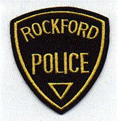 Rockford Police Patch (felt/black/yellow)(IL)
