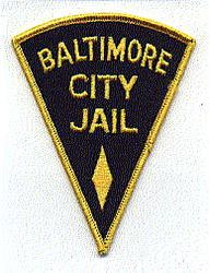 Baltimore City Jail Patch (triangular) (MD)