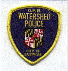 Baltimore D.P.W. Watershed Police Patch (cap patch) (MD)