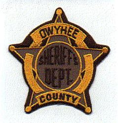 Sheriff: KY, Owyhee Co. Sheriffs Dept. Patch