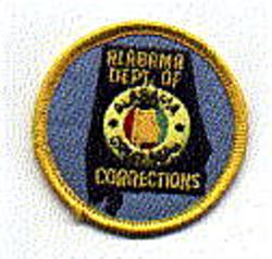 Dept. of Corrections Patch (cap size) (AL)