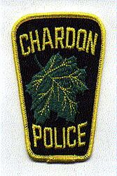 Chardon Police Patch (black/yellow) (OH)