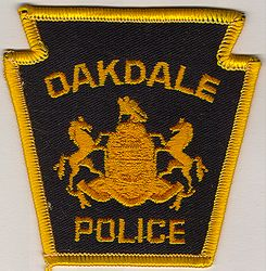 Oakdale Police Patch (gold edge, small) (PA)