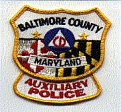 Baltimore Co. Aux. Police Patch (CD, uniform take off) (MD)